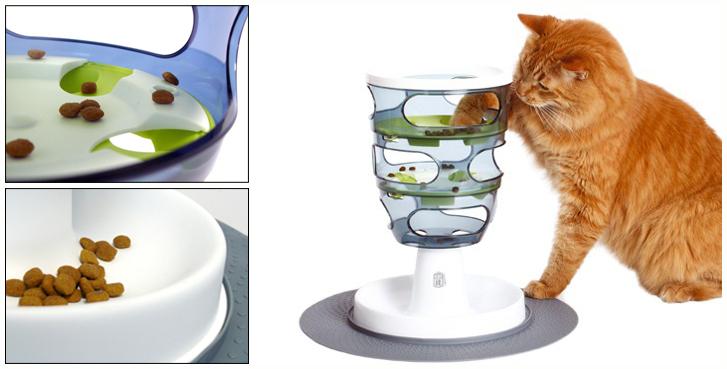 distributeur de croquettes pour chat labyrinthe jeu pour chat chat au r gime chat ob se. Black Bedroom Furniture Sets. Home Design Ideas