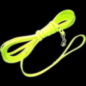 longe jaune fluo de 5 m pour chien